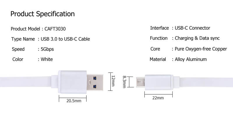 USB C to USB A Cable CAFT3030