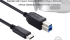 USB C to USB B Cable CUBP2010