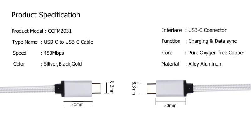 USB C to USB C Cable CCFM2031